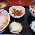 永らく - カツ丼セット(温かいそば)900円