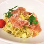 イタリア厨房 KUNISHIMA - アボカトと生ハムの冷製パスタ