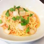 イタリア厨房 KUNISHIMA - 明太子と山芋の大葉風味