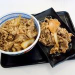 吉野家 - 牛丼並盛と牛皿並盛