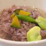 白金亭 - 五穀米上湯泡飯・五穀米の上湯茶漬け