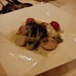 炭焼ステーキハウス 葡萄屋 - 貝柱のガーリックソース又はバターソース(1300円)