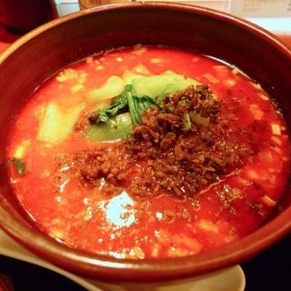 想吃担担面 - 料理写真:坦々麺汁あり+ひき肉と漬物トッピング