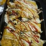 お好み鉄板焼き とんぼ - チーズ平焼き