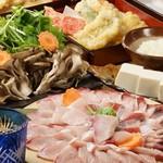 天ぷら海鮮 五福 - 料理写真:鰤シャブコース