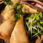 串もんDiningくしべえ - 自家製つくねと根菜の春巻き