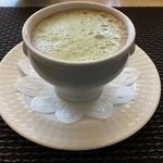 118013989 - 丹波あずきのポタージュ 抹茶風味のカプチーノ仕立て