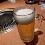 焼肉 のがみ苑 - 【2019.10.21(月)】生ビール(中)500円