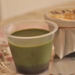 八女茶sweetsなつめ - 下には小豆が(*^_^*)128円のプリン」