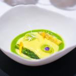 レストラン サンパウ - アスパラガスのひと皿