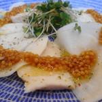 暁タップス - 清流鶏とかぶのカルパッチョ