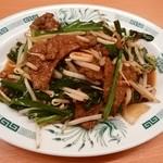 日高屋 - ニラレバ炒め
