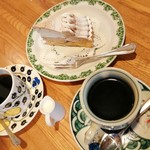 118033656 - コーヒーと岩間栗ケーキ
