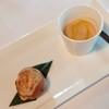 雀の庵 郡上 - 料理写真:ほうれん草とチーズのシュー&やま栗のポタージュ