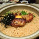 旬魚と個室 和食りん  - フォアグラの炊き込みご飯