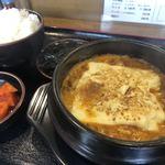一平ちゃん - クッパ定食♪ 650円 (チーズ・豆腐トッピング+50円/各)