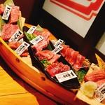 松阪牛一頭流 肉兵衛 - 松阪牛一頭舟盛り (松阪牛A5雌牛希少部位)