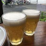 PIZZA SALVATORE CUOMO - ラグビー日本代表応援フェアの生ビール 280円