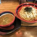 結まーる - 料理写真:平打ちつけ麺 魚介とんこつ醤油味