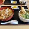 鶴や本家 - 料理写真:『カツ丼のミニうどん付き』にエビ天トッピング