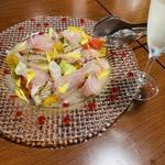 カフェ ブル - 鮮魚のカルパッチョ