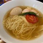 麺屋ブルーズ - 料理写真:白そば+とろ玉子