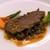 ラ・レゾナンス - イベリコ豚ベジョータ肩ロース肉のコンフィ 緑レンズ豆添え