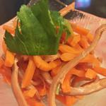 伊達なおもてなしDUCCA - 福島の郷土料理、いかにんじん。ネーミングがまんまで笑う。スルメ感覚でお酒と一緒に。