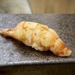 118086054 - ☆車海老(三河湾)・・海老自体も甘いですが、ミソもいい味わい。