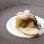 118086268 - ◆太刀魚、茹でピーナツソースで