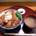 Tenzan - 鳥親子天丼(800円)+御飯大盛り(100円)