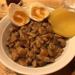 中華アジアンバル 玉造夜市 - 魯肉飯 + 味付け煮玉子特製麻婆豆腐
