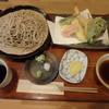 手打ち蕎麦屋 山と森と - 料理写真:特上天ざる(八品)¥1,600