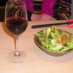 日々飯菜 ひきだし - Aランチのサラダとランチワイン