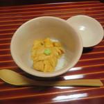 味 ふくしま - 5品目 雲丹の飯蒸し