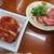 江畑 - 料理写真:キムチとタン刺