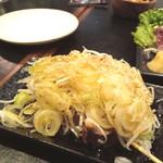 118103131 - 葱モリモリ盛りな レバー若焼き の焼入れの妙☆ 今すぐ食べたい!