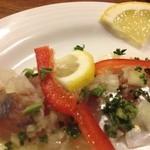 バルティナ - アジのカルパッチョ。アジが新鮮でおいしい!!!