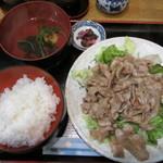 あさみどり - 黒豚生姜焼き 900円