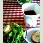 11813611 - サラダ、スープ、バゲット♪