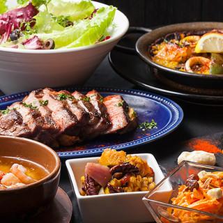 スペイン料理が気軽に楽しめる平日限定のプリフィックスコース!
