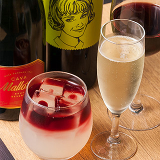 ワインはオールスペイン産!オリジナルカヴァもおすすめ!