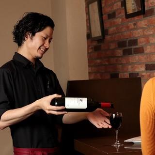 こだわりの熟成肉にぴったりのワインを取り揃えています♪