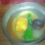 はせ茂 - クリーム豆腐の澄まし汁