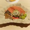 新ばし 星野 - 料理写真:むかご、ばちこ、かきなます、銀杏
