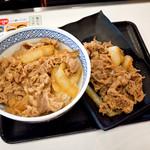吉野家 - 牛丼並盛と、牛皿並盛