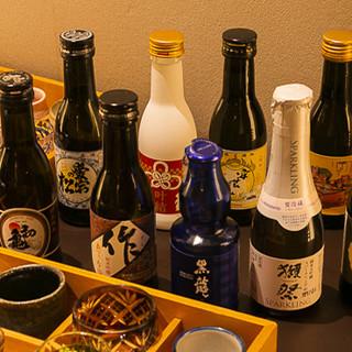 日本酒は一合瓶でご用意。様々なペアリングが愉しめます