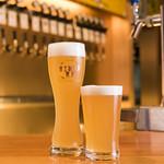 ラクビア - ビール2種(富士佐倉高原麦酒と大山Gビール)