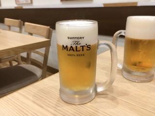 吉野家 高松瓦町店 - 生ビールはジョッキも樽も冷え冷え