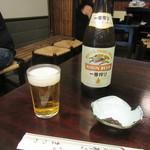 神田まつや - ビール・蕎麦味噌